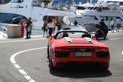 Met de Audi R8 door Monaco