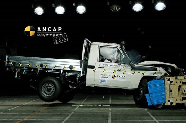 Vijf NCAP-sterren voor oude Toyota Land Cruiser