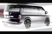 Volkswagen Transporter T6 schets