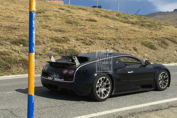 Lezersspionage: Bugatti Chiron mule