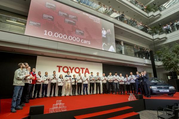 Tien miljoenste Europese Toyota een feit