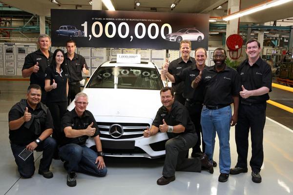 Mercedes bouwt miljoenste Zuid-Afrikaanse model