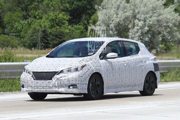 Gesnapt: nieuwe Nissan Leaf