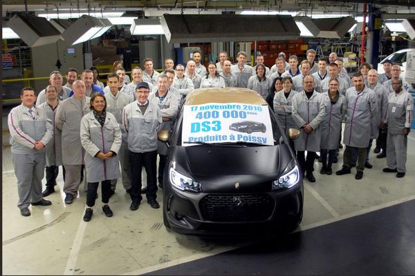 400.000ste DS 3 is een feit