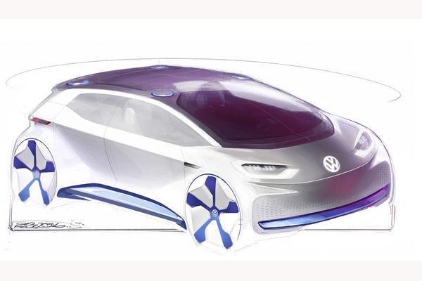 Volkswagen toont schetsen nieuwe concept-car