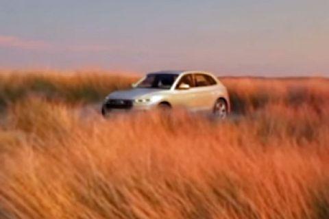 Nieuwe Audi Q5 te zien in de verte