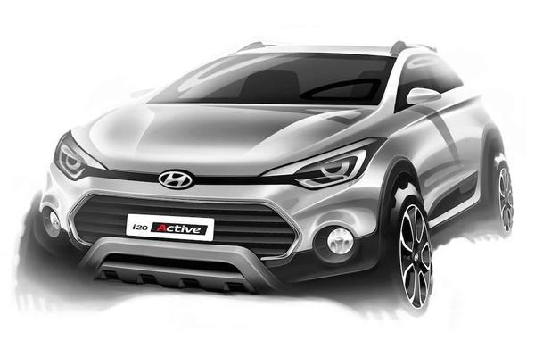 Hyundai toont schets i20 Active