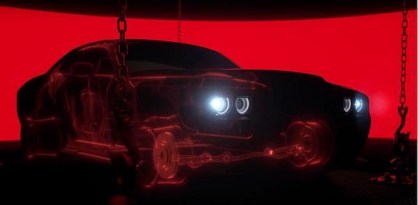 Dodge Challenger SRT Demon kijkt om de hoek