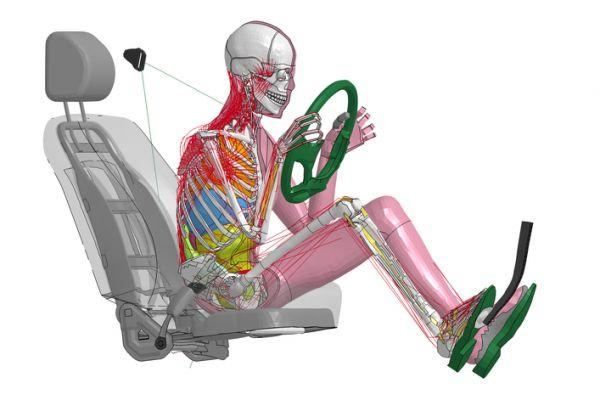 Vijfde generatie Toyota THUMS crashtest dummy