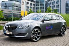 Autonome Opel onderweg