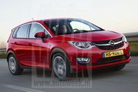 Opel Meriva (illustratie Marco van Overbeeke)