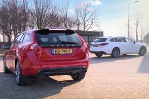Dubbeltest Mazda 6 Sportbreak vs. Volvo V60