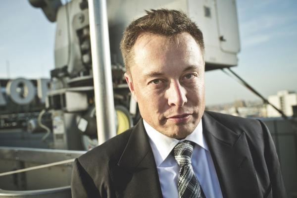 Achtergrond: portret Elon Musk van Tesla