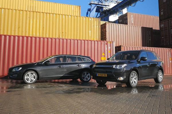 Video: Mitsubishi Outlander PHEV vs. Volvo V60 PHEV - Dubbeltest