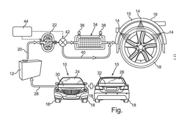 Mercedes besprenkelt autobanden