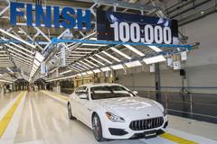 100.000ste Maserati uit Grugliasco