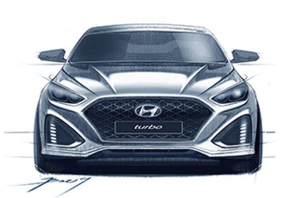 Nieuwe Hyundai Sonata duikt op als schets