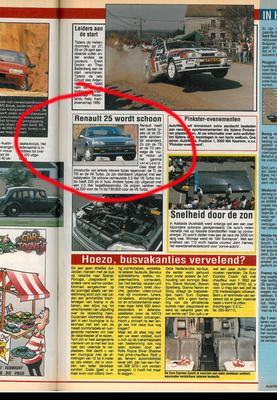 Toen in het nieuws: Renault 25 wordt schoon