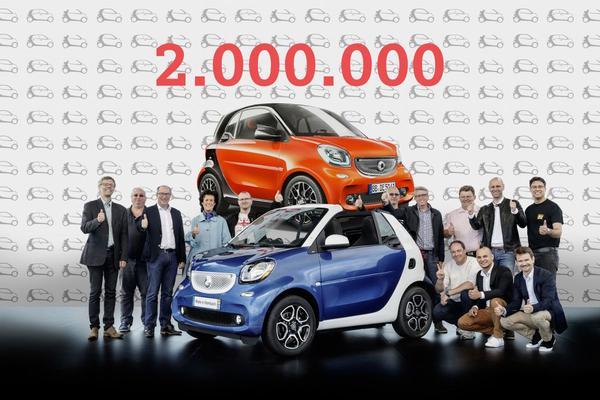 Twee miljoen Smarts verkocht