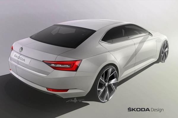 Nieuwe Skoda Superb: de volgende teaser