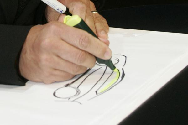 Kia schets van ontwerper Peter Schreyer