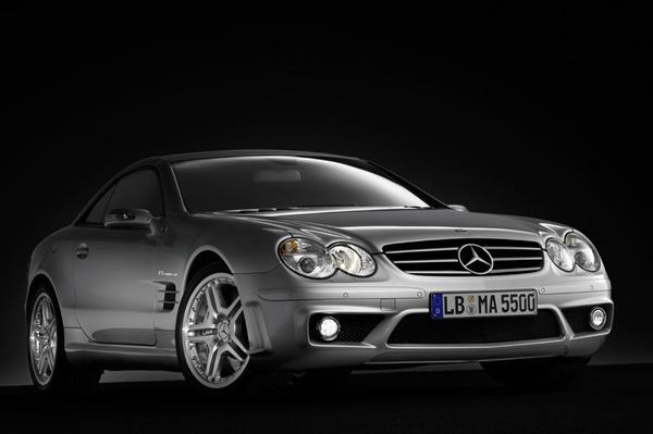 ...van de originele Mercedes SL staan