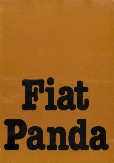 brochure fiat panda 1980. Black Bedroom Furniture Sets. Home Design Ideas