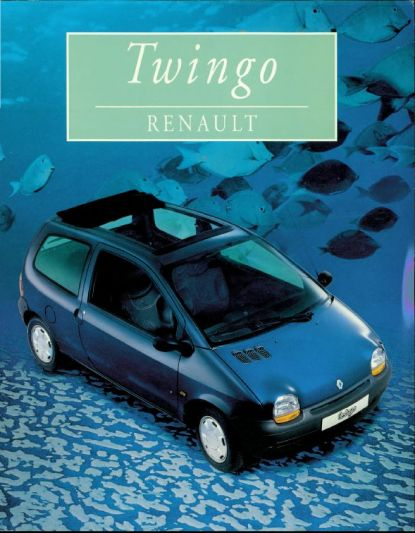 brochure renault twingo 1996. Black Bedroom Furniture Sets. Home Design Ideas