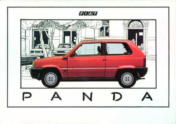 brochure fiat panda 1986. Black Bedroom Furniture Sets. Home Design Ideas