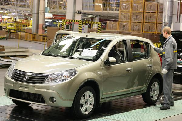 Dacia Sandero in productie in Rusland