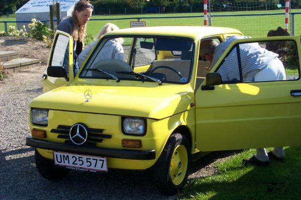 Fiat 126 met Mercedes-look