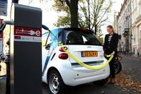Smart EV van Car2go in Amsterdam