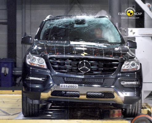 Crashtest Mercedes-Benz M-klasse