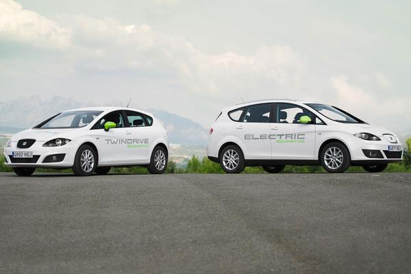Seat Altea XL Electric Ecomotive en Seat Leon Twin