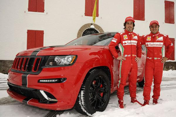 Jeep Grand Cherokee SRT-8 met Ferrari-look