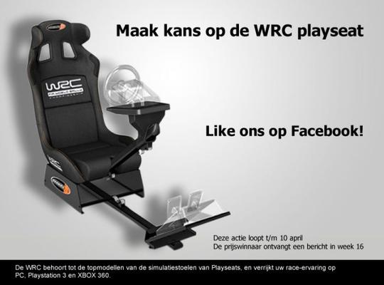 Facebook raceseat WRC actie