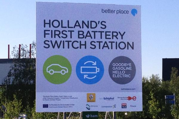 Accuwisselstation Better Place op Schiphol