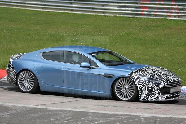 Aston Martin Rapide S spyshots