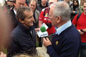 Alain Prost op Goodwood