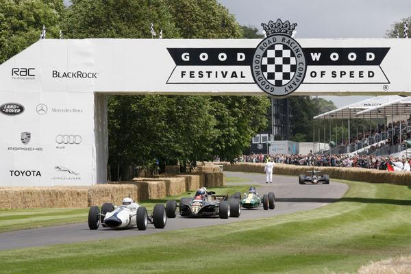 Lotus op de Goodwood hillclimb