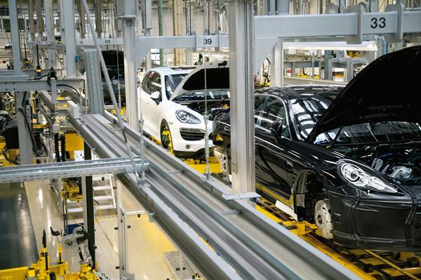 Porsche Cayenne-productie in Leipzig
