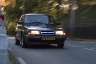 Achteruitkijkspiegel - 'Chimney Black, oude Saab-kleur'