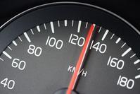 Snelheidsmeter 130 km/h (foto ANP)