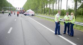 Tiende ongeluk op afrit A2