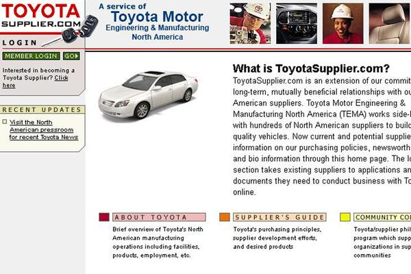 Toyota supplier website