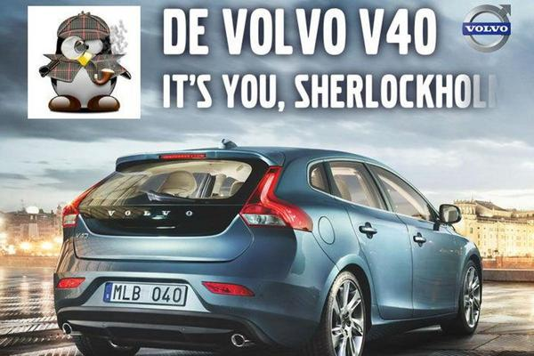 Volvo V40 billboard