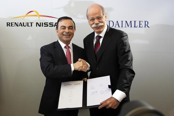 Carlos Ghosn en Dieter Zetsche