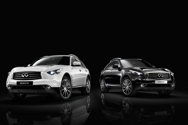 Infiniti FX Black en White Edition