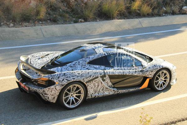 McLaren P1 Spyshots