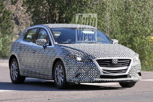 Mazda 3 Spyshots